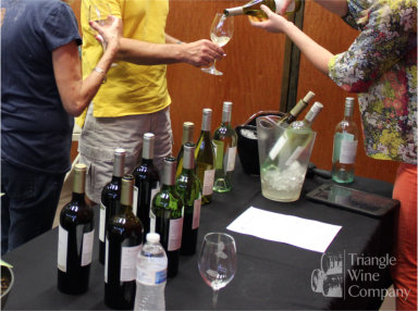 Try new wines at Saturday Wine Tasting Events at Triangle Wine Company