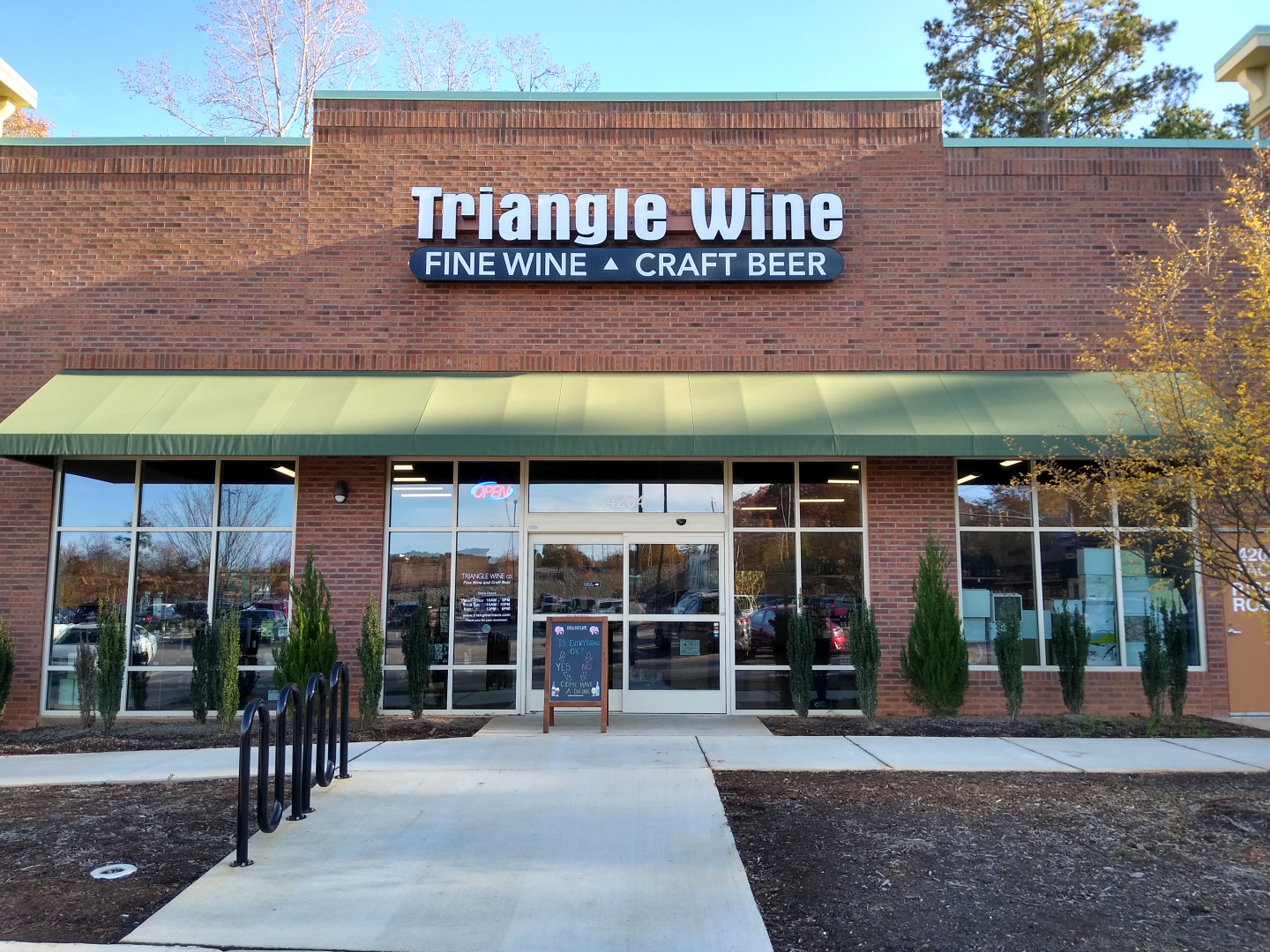 Triangle Wine Company Holly Springs, NC Wine Beer Store Sunset Lake Road Holly Springs Road