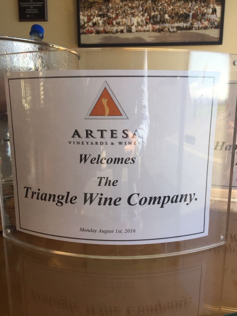 Triangle Wine Company Artesa Winery California Staff Trip